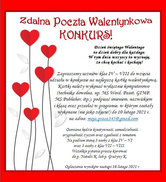 Zdalna Poczta Walentynkowa KONKURS